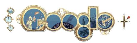 Google Doodle 2/8/2011 - Jules Verne