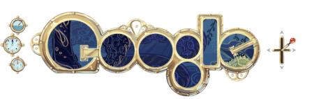 Google Doodle 2/8/2011 - Jules Verne 2